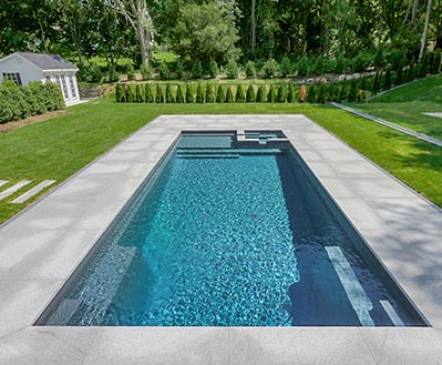 Leisure Pools Inground Fiberglass Pool Color Gaphite Grey